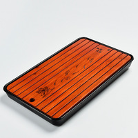 Travel Small Bamboo Tea Tray Home Office Chinese Kung Fu Tea Tray Coffee Table Decoration Gift Tea Accessories Free Shipping