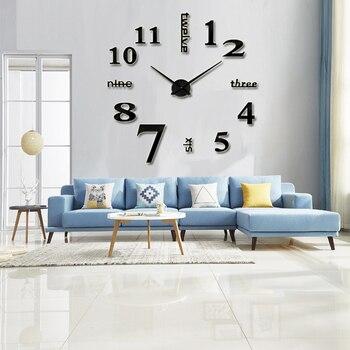 2019 muhsein スーパービッグミラー壁時計アクリル金属壁時計ルーム飾る結婚式ギフトステッカー壁時計送料無料