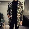 Середине Долгой Зимы Куртка Камуфляж Пальто Мужчины Утолщение Хлопка мягкий Зимняя Куртка Мужчины с Капюшоном