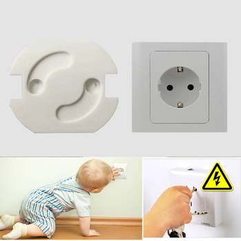 10Pcs/Lot Baby Safety Rotate Cover 2 Holes EU Standard Children Electric Protection Socket Plastic Baby Locks Child Proof Socket