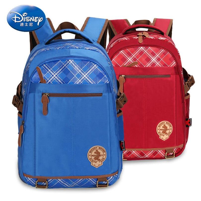 Disney 2019 Mickey Mouse imperméable à l'eau orthopédique sac à dos sacs d'école pour garçons dessin animé cartable ultraléger enfants sac Grade 4-6