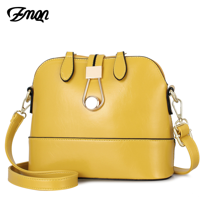 ZMQN Women Messenger Bags Leather Shell Bags Small Lady Yellow Fashion Cross Body Cute Bag for Women lovely Girls Side Sac A534