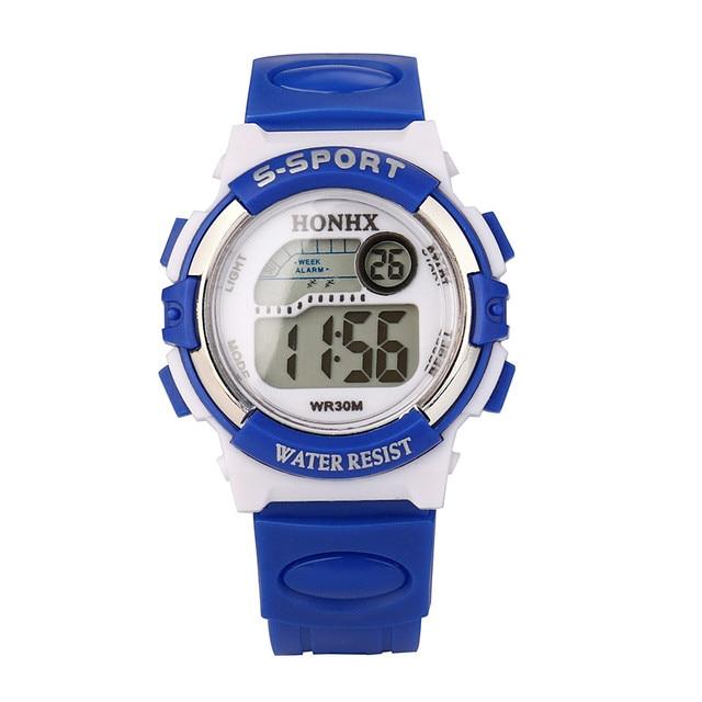 HONHX Semplice elettronici A LED orologio da polso Impermeabile Per Bambini Dei Ragazzi di Sport di Digitahi Della Vigilanza Dei Bambini di Allarme Data di Vigilanza Best Regalo Per Il Capretto H25