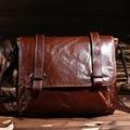Retro Cowhide Genuine Leather Shoulder Bags Small Crossbody Bag Ipad Men Messenger Bags Handbag Small Men's Leather Bag Male