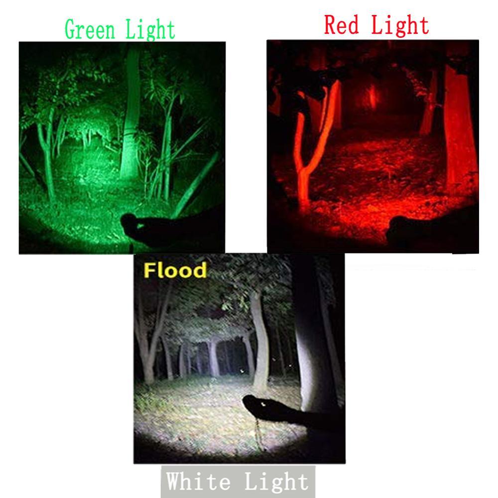 UniqueFire uf 1406 XP E Bianco/Verde/Luce Rossa del Led della Torcia Elettrica Dello Zoom Messa A Fuoco Della Torcia del Fascio Regolabile Lanterna Caccia - 6