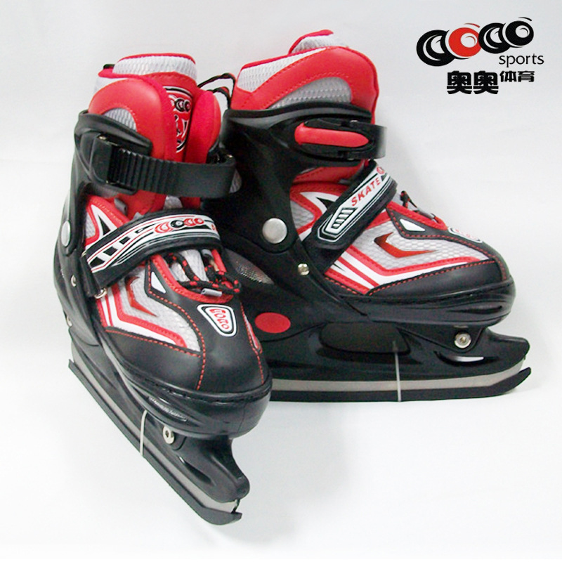 ФОТО NEW Kids Children Ice Skates Adjustable Professional  Shoes Ice Hockey 3 Colors 3 Sizes Fits Foot size 20-25.5cm