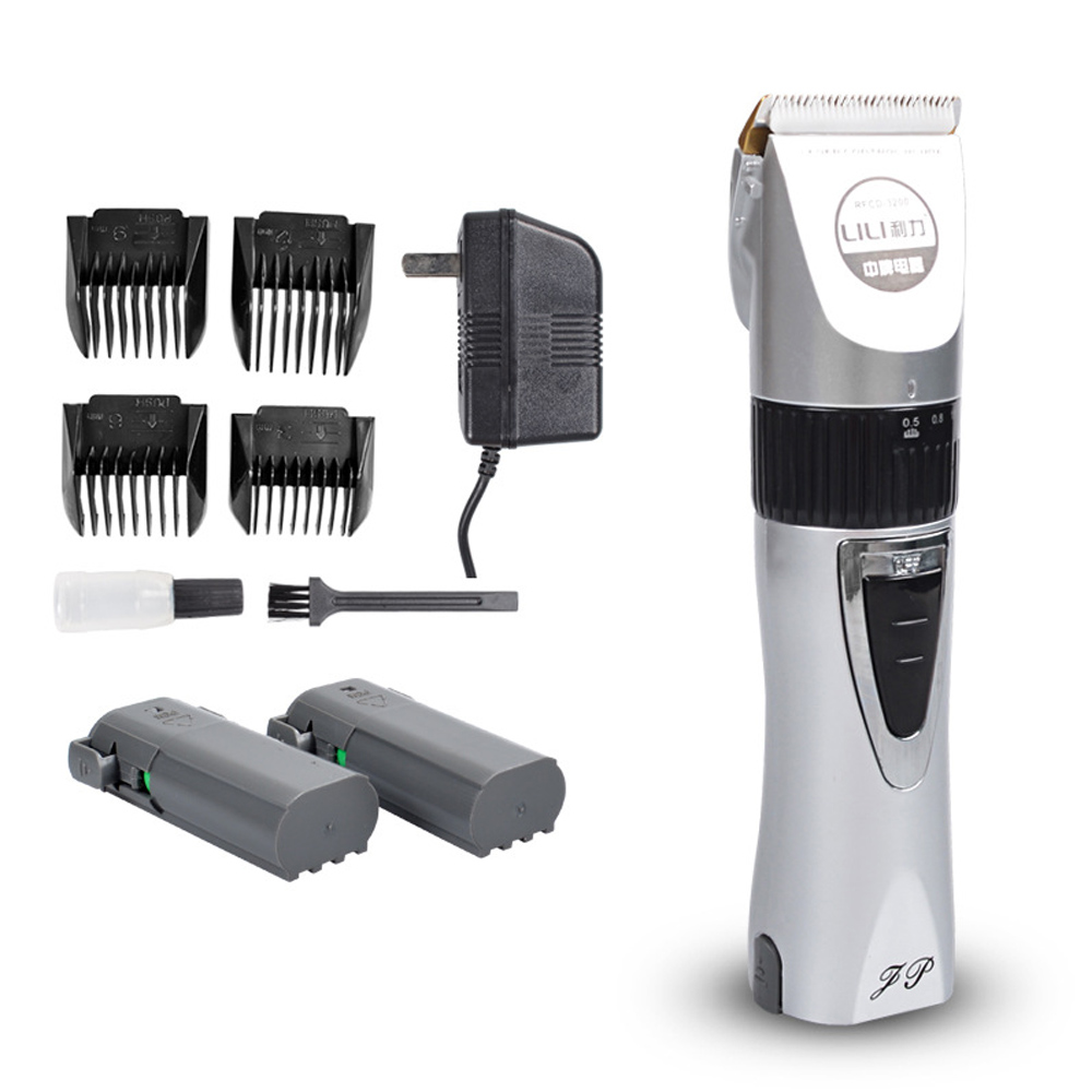 12W Titanium Alloy Ceramic Head Electric Hair Trimmer Professional Hair Clipper Trimmer Electric Shaver Super Sound-off lonbv lch 8561 12w rechargeable super mute hair clipper silver 220v