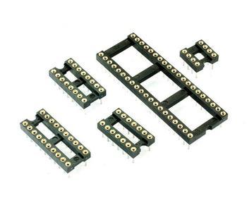 10PCS 8Pins DIP DIP-8 IC Socket Test Socket Round Hole  DIP8 DIP14 DIP16 DIP18 DIP20 DIP24 DIP28 DIP32 DIP40