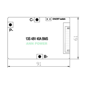 Image 5 - 3.7 v 携帯 13 s 48 v 40A リチウム電池 bms とオン/オフスイッチとバランス機能連続電流 40A 最大電流 120A