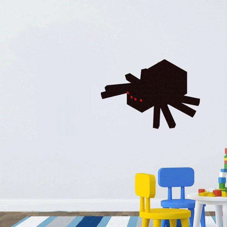 MINECRAFT SPIDER, Minecraft Wall Stickers Wallpaper Minecraft Party Decorations Wall Art Decals, Vinyls Kids Rooms Home Decor