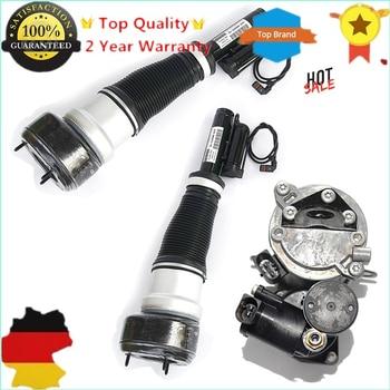 AP02 New Front Air Suspension Shock Struts & Compressor Pump For Mercedes W221 CL500 CL550 CL600 CL63 CL65 S350 S400 S550 S600