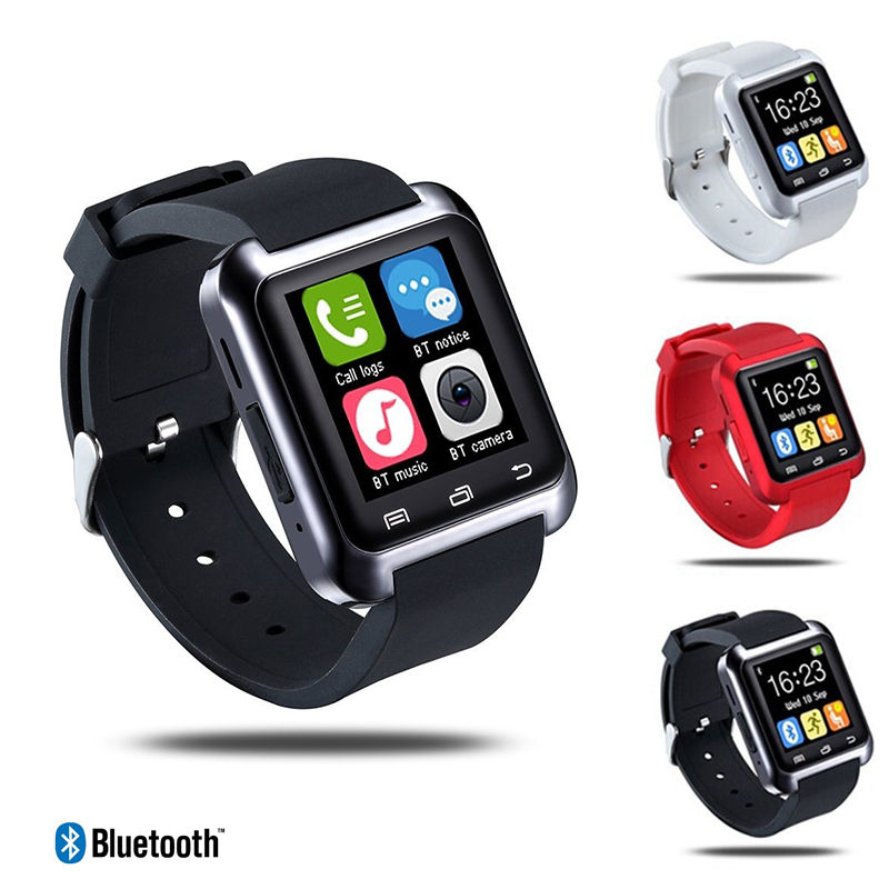 1pc Anti-lost Smart Watch Women Men Student Sports Watch Clocks U80 Bluetooth Wristwatches Android Smartphone for iOS Silicone feie high quality cic digital hearing aid s 15a ear amplifier for the hearing loss