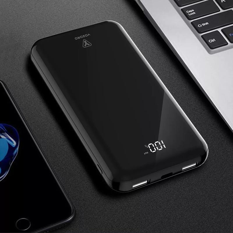 10000mAh LED display  Charger Power Bank  USB  Powerbank For iPhone X 8 Macbook Samsung S9 External Battery Poverbank usb battery bank charger