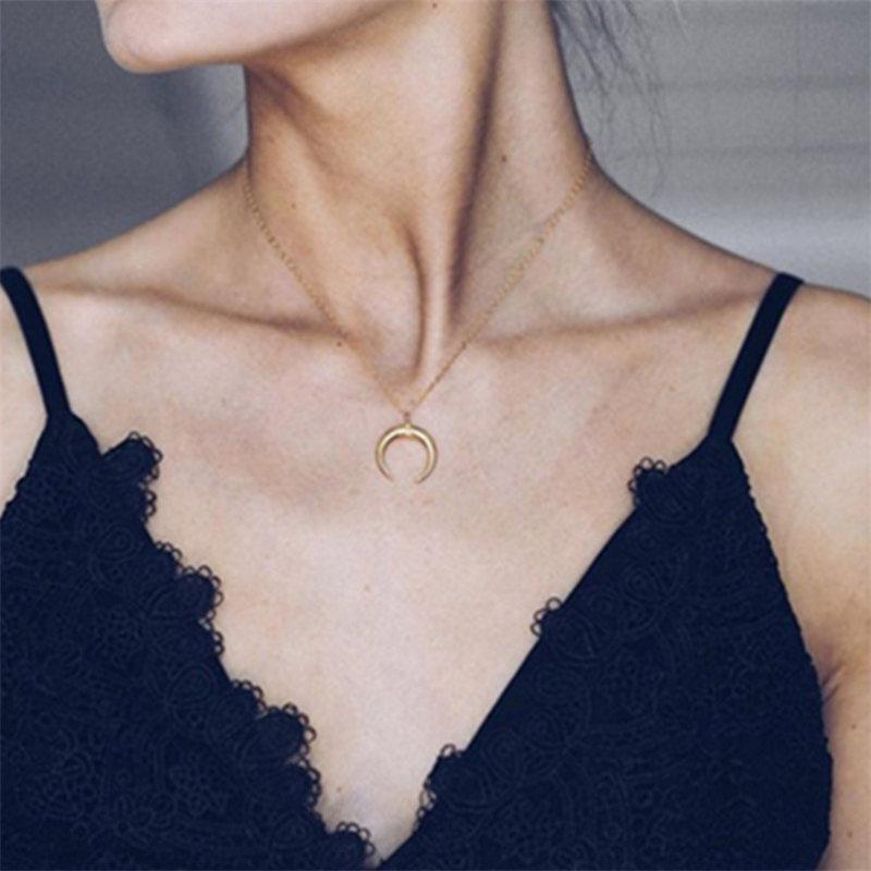 Модное женское ожерелье из сплава, s& Кулоны, колье, ожерелье золотого цвета с кристаллами, ожерелье для женщин, подарок - Окраска металла: x87gold