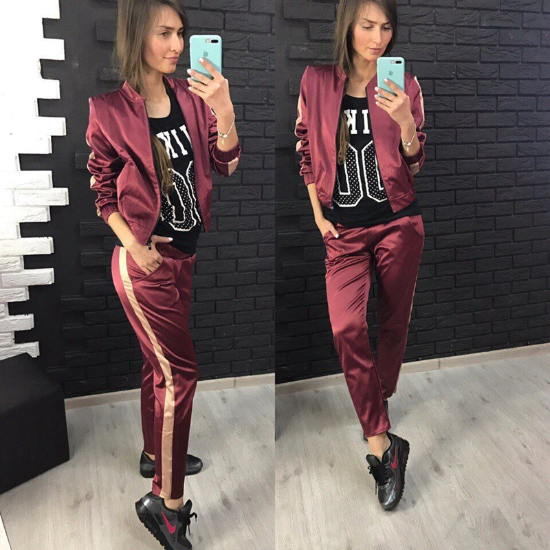 CFYH Sets Casual Tracksuit 2018 New Autumn Women O Neck Sporting Suit Two Pieces Sets Women Sportswear