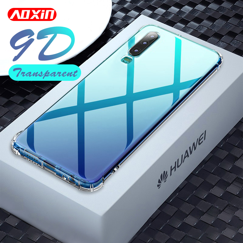 AOXIN 9D Clear Phone Case For Huawei P20 P30 Pro Lite Case Back Cover For Huwei P30 Lite P20 Pro 3D Soft TPU Silicone Case Shell