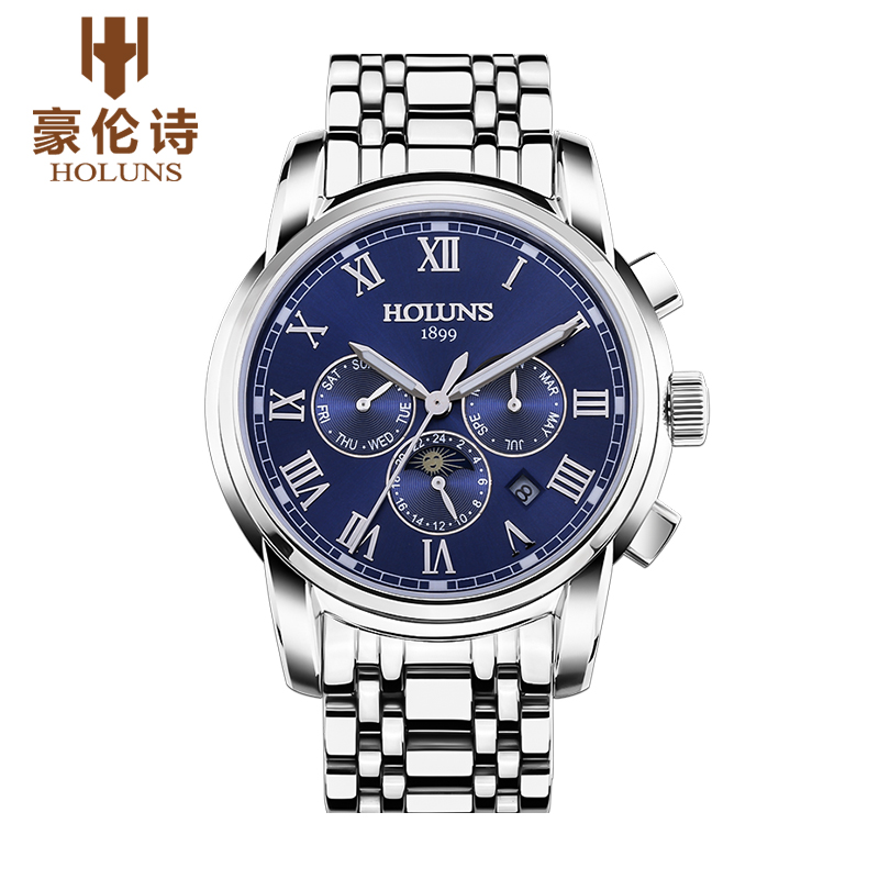 Luxury HOLUNS Brand Mens Watch Automatic Mechanical Watches Full Steel Waterproof Male Casual Business Wrist Watch ClocksLuxury HOLUNS Brand Mens Watch Automatic Mechanical Watches Full Steel Waterproof Male Casual Business Wrist Watch Clocks