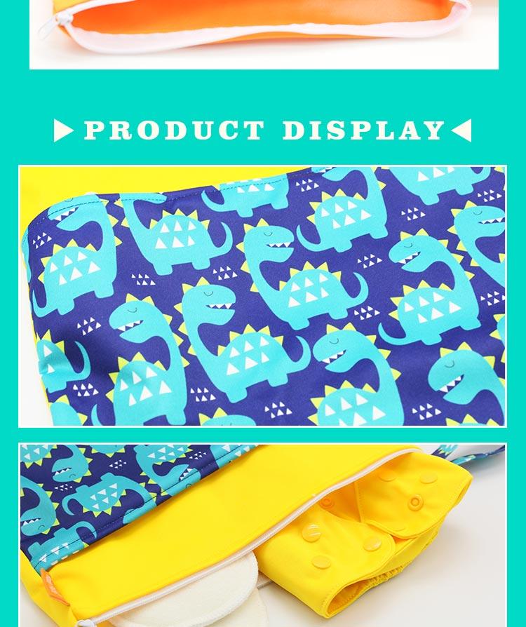 HTB1deOgcKuSBuNjy1Xcq6AYjFXaG HappyFlute Baby Diaper Bags Double Zippered Wet/Dry Bag Waterproof Wet Cloth Diaper Backpack Reusable Diaper Cover WetBag