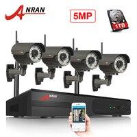 ANRAN Беспроводной WI-FI 5MP NVR HD H.265 Водонепроницаемый наружного видеонаблюдения Камера Системы Dection движения запись WI-FI комплект видеонаблюдени...