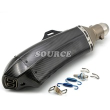 motorcycle accessories Akrapovic muffler pipe scooter exhaust pipe carbon fiber For BMW S1000RR BMW F650GS  F800GS/Adventure