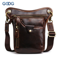 New Head Crazy Horse Cowhide Shoulder Bag Europe And The United States Retro Wind Messenger Bag