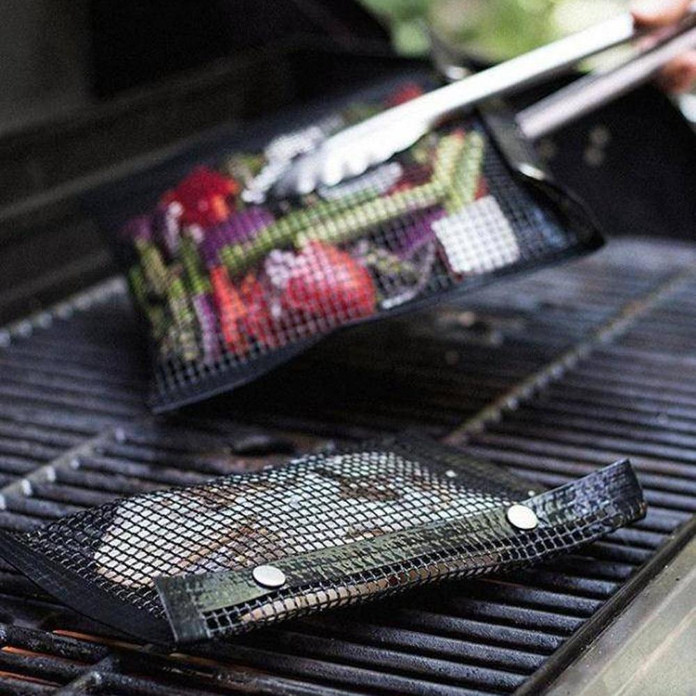 New Non-Stick Mesh Grilling Bag Outdoor Picnic Tool Bolsa De Barbacoa Reusable and Easy to Clean Non-Stick BBQ Bake Bag#3
