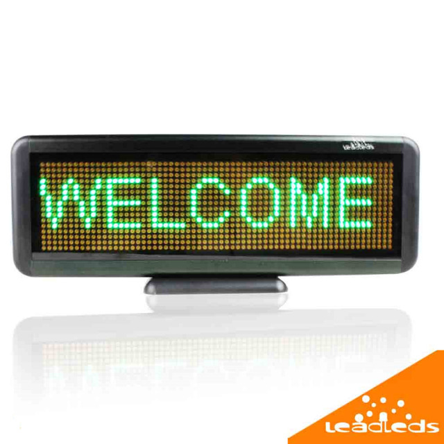 Green led Sign / Store Scrolling Electronic Led Display Board,lithium battery Rechargeable Usb Programmable Advertising led sign