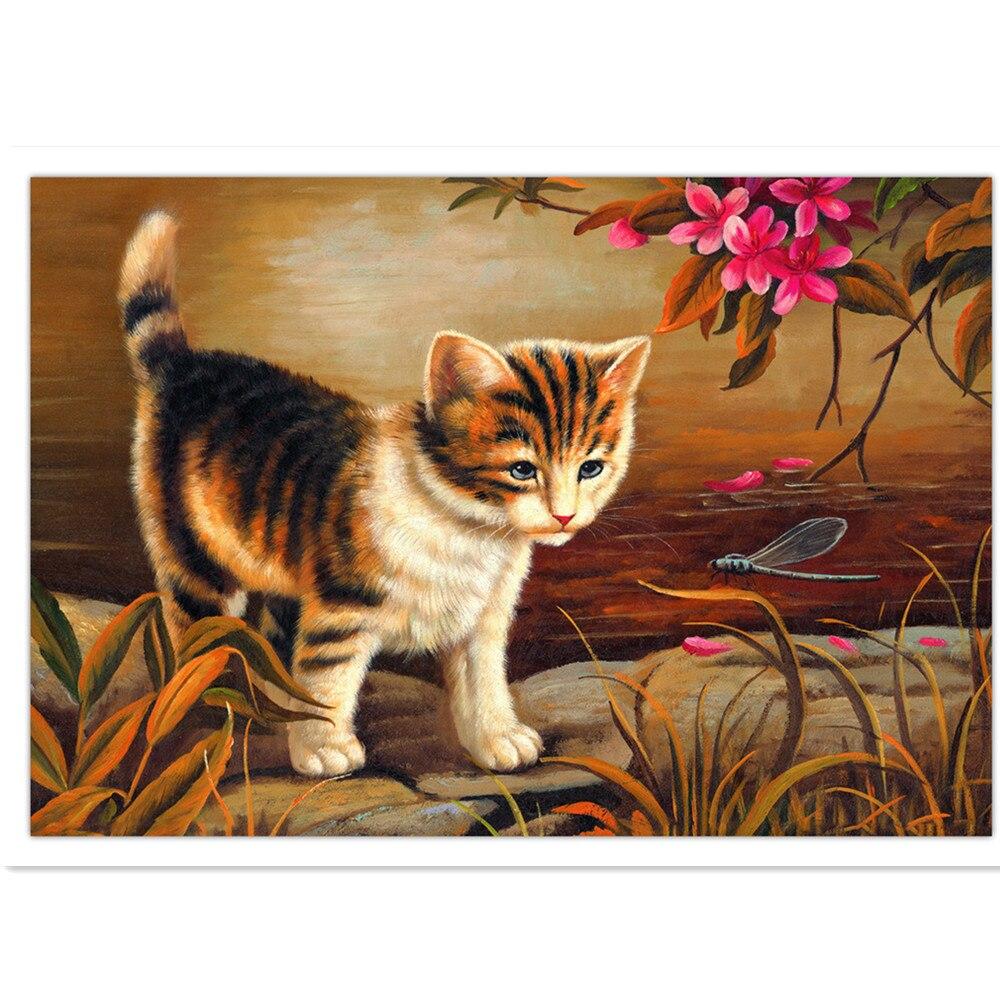 66f848f330aa4 Diamante bordado animais, gatos flores, diamantes bordados, pintura em  mosaico, fotos de diamantes, diamante bordado gato