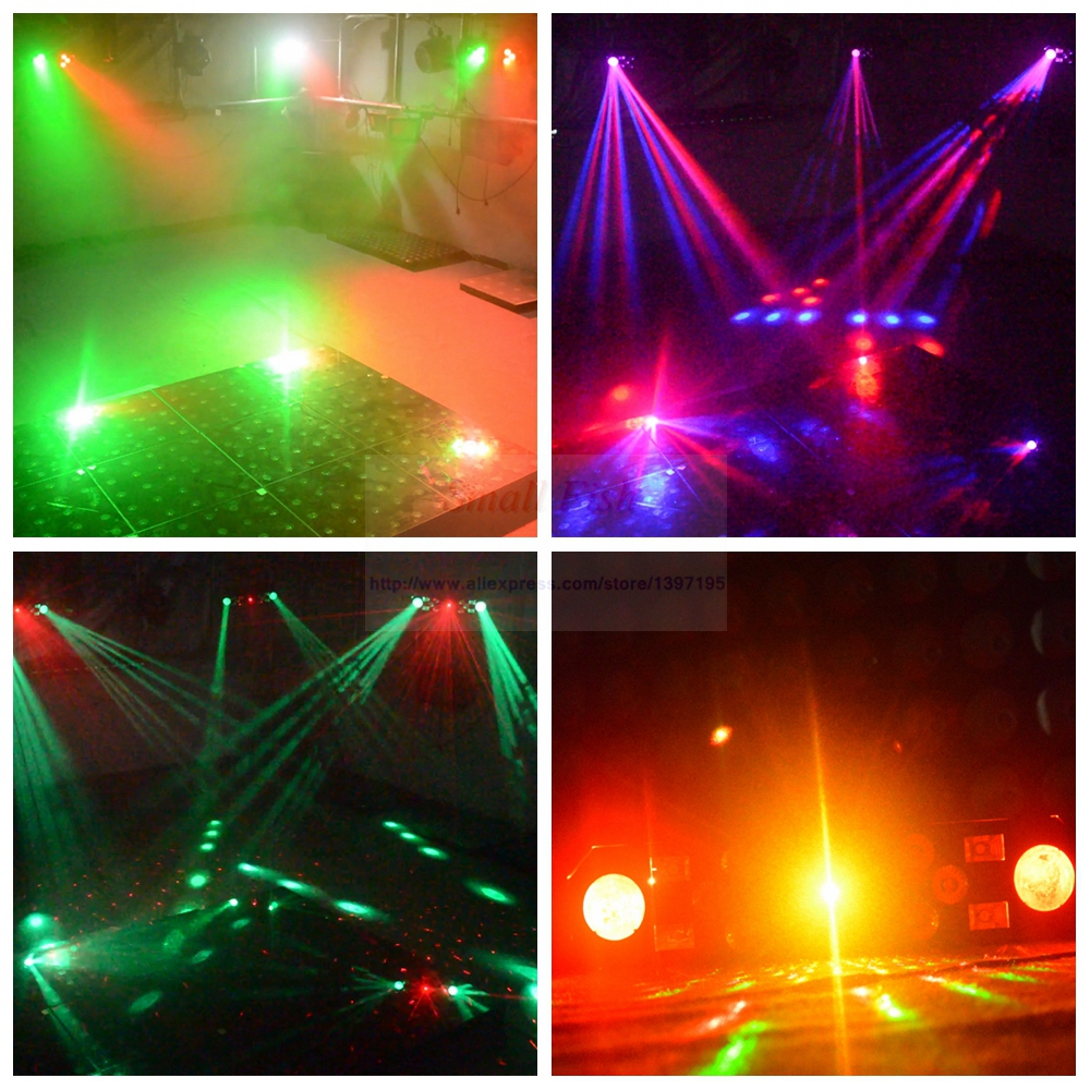 Professional 5IN1 Pattern Effect RGBW Audio Star Whirlwind Laser Projector Stage Disco DJ Club Bar KTV Family Party Light Show - 6