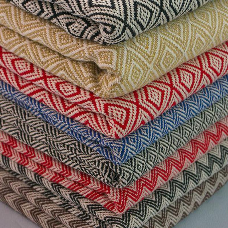 Demi-mètre Plaid coton lin Patchwork Tissu ethnique pour coudre des meubles nappe Textile maison artisanat matériaux Telas Tissu