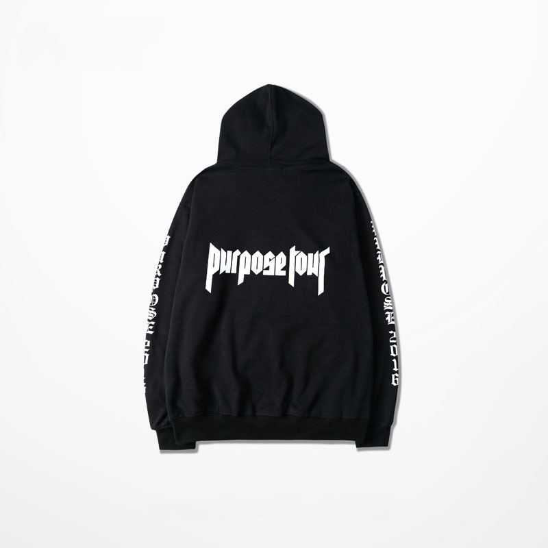 justin bieber purpose tour hoodies men women hip hop. Black Bedroom Furniture Sets. Home Design Ideas