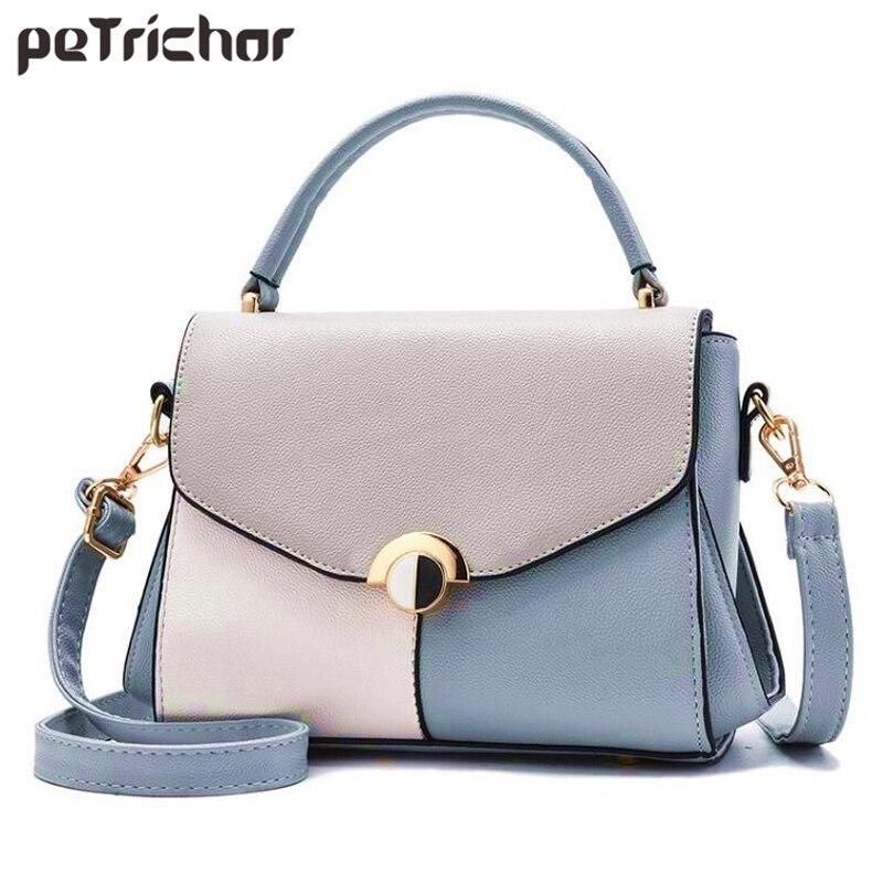 bfc9104b8da0 Панелями Повседневное Стиль Тонкий сумка Для Женщин Синтетическая кожа  женский кошелек девушки маленькая сумка женская сумка