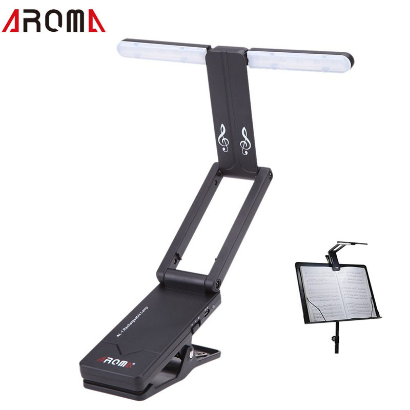Aroma AL-1 Clip-on Rechargeable Music Stand Lamp for Guitar Piano LED Stage Light  USB Charge guitar accessories ryad mogador al madina ex lti al madina palace 4 агадир