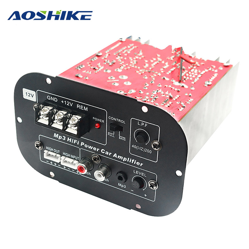 Aoshike 12V High Power Subwoofer Car Amplifier Board Full Tone Pure Bass Car Subwoofer Core 8 Inch 10 Inch 12 Inch-in Mono Amplifiers from Automobiles & Motorcycles