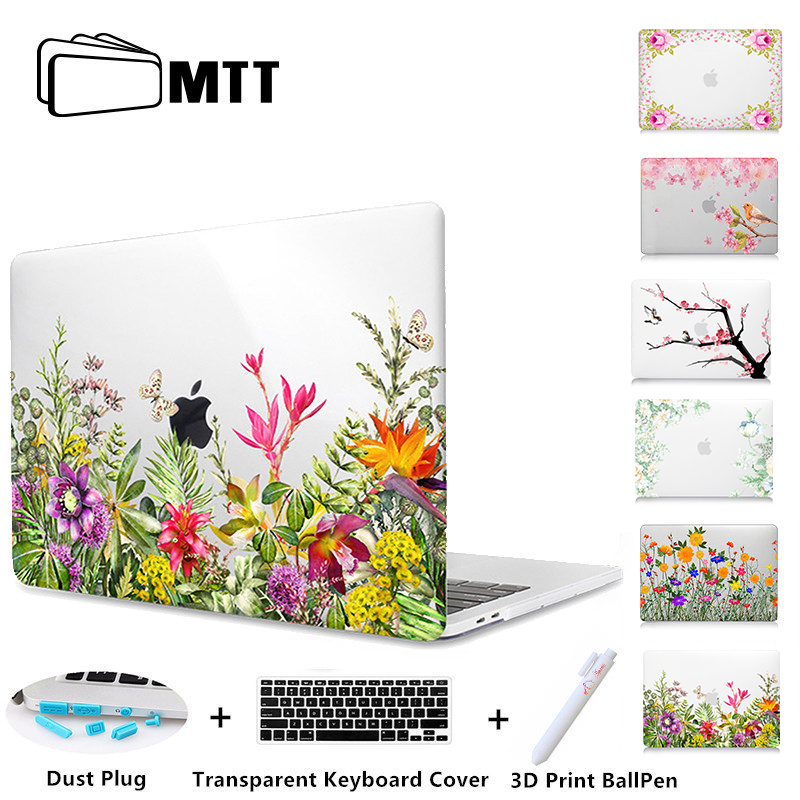 MTT Flowers Crystal Hard Case For Apple Macbook Air Pro Retina 11 12 13 15 Floral Cover For mac book Pro 13.3 inch Laptop Sleeve mtt flowers crystal hard case for apple macbook air pro retina 11 12 13 15 floral cover for mac book pro 13 3 inch laptop sleeve
