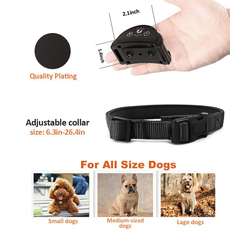 Image 5 - Rechargeable Anti Bark Collar vibration Bark collar humane no  shock dog vibration collar no bark collar vibrate dog bark stopBark  Deterrents