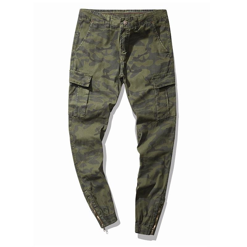 Joggers Los Con Puño Hombres Del Pantalones Múltiples verde Azul Militar Trabajo Camuflaje gris De Bolsillos Cargo Moruancle Estilo Tácticos Elástico qaA0X0