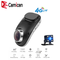 Cemicen 4G Wifi Full HD 1080P Android 5.1 ADAS Car DVR Dash Camera Dual Lens Dash Cam Video Recorder GPS Navigation Bluetooth