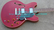 free shipping new 6 strings hollow electric guitar in red for jazz music made in China LL11