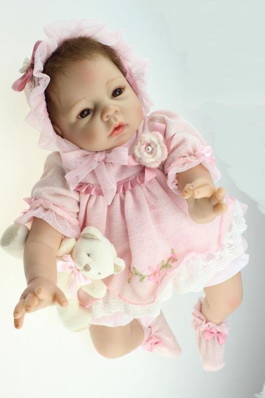 New arrival 22 Silicone Reborn Baby Doll Toys With cotton body Newborn boy Baby Doll Lovely Birthday Gift for kid Brinquedos pursue 22 56 cm big smile face reborn boy toddler baby doll cotton body vinyl silicone baby boy doll for children birthday gift