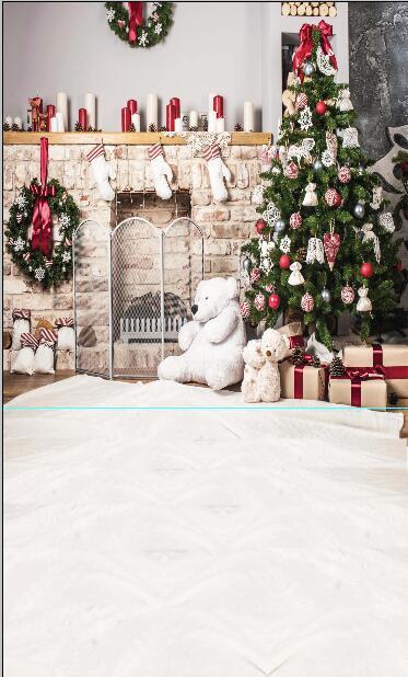 3x5 m arbre de noël photographie Fond rouge canapé photographie-studio-toile de Fond studio photo vinyle arrière-plans noël