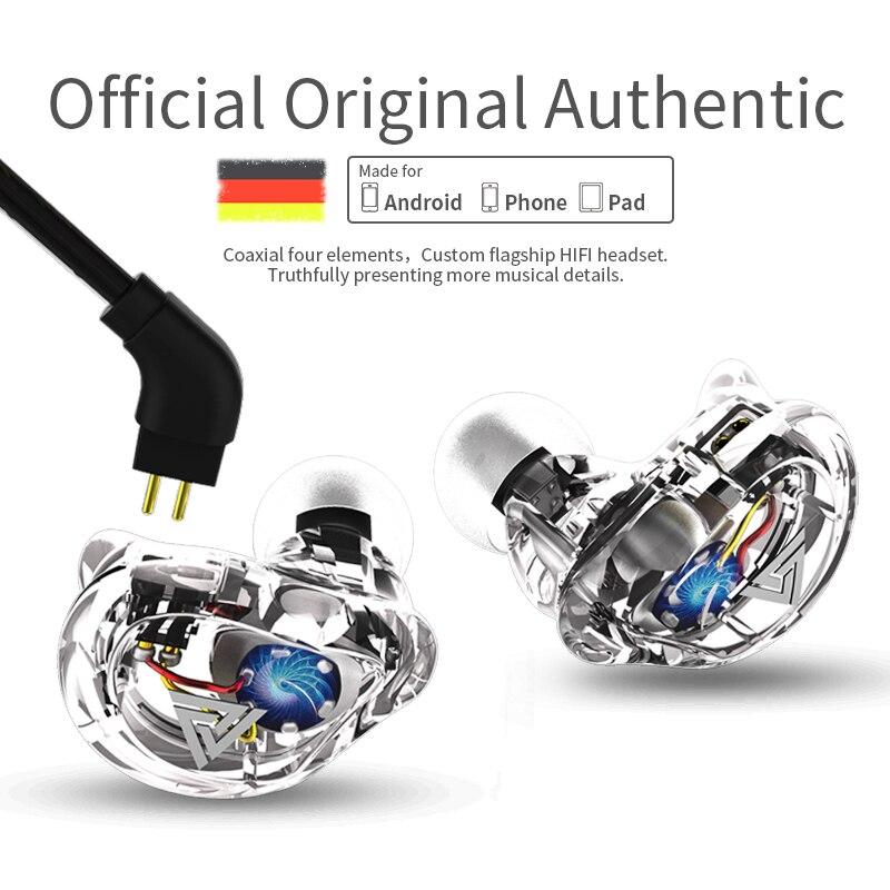 Pizen VK1 dynamic In Ear Earphone HIFI DJ Monito Running Sport Earphone Earplug Headset Earbud ZS6 ZS10 zst ZSR 2pin for qkz