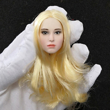1/6 Scale Natalie Portman Girl Blonde Hair Head Carving for 12 Inches Figures Bodies Dolls