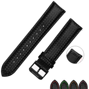 20mm 22mm For galaxy watch 46mm Quick Release strap Black Carbon Fiber Watch Strap Band For Gear S3 S2 Classic Replacement Band(China)