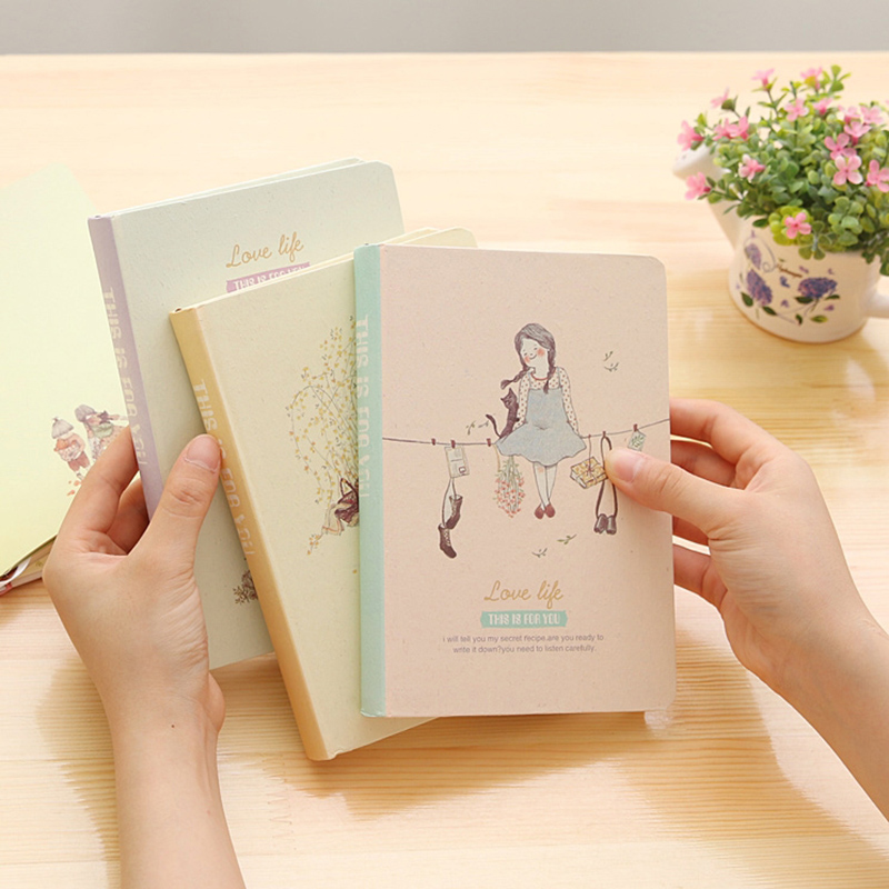 Agenda 2017 Original Korea Cute Forest Girls Hardcover Notebook Periodical Planner Sketchbooks Journal Notebooks Diary Filofax europe spiral original notebook planner hardcover sketchbook periodical pads notebooks caderno diary office stationery journal