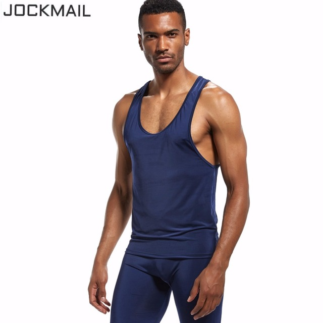 6de136c0b90bb9 JOCKMAIL New Quickly Dry Mens Running Shirts Compression Tights Gym Tank Top  Fitness Sleeveless T-shirts Sport SHM Best Running