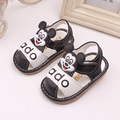 2016 summer 0 to 2 years old baby boys sandals cartoon soft bottom newborn toddler shoes non-slip kids first time walking shoes