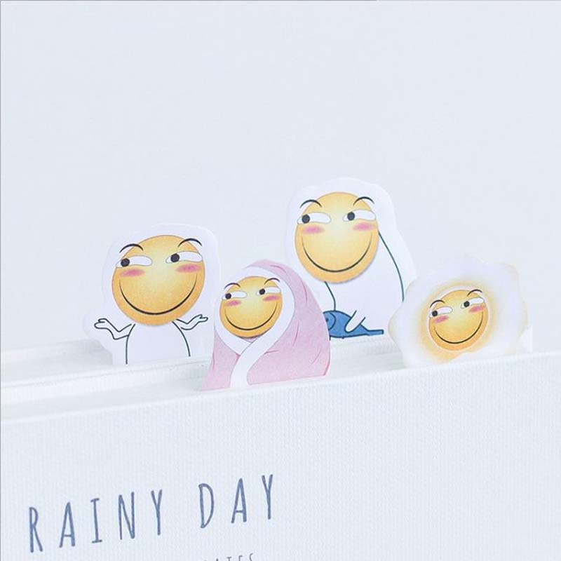 NOVERTY 4PCS/LOT Novelty Cute Kawaii Funny Paper Planner Sticky Note Memo Pad Post It Office School Supply Kid Stationery 01912