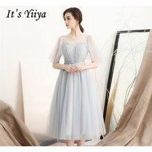 Женское платье на выпускной it's yiiya зеленое кружевное