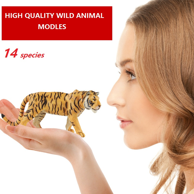 Toy Simulation-Model Educational-Toys Wild-Animal-Figures Forest Antelope Moose Tiger